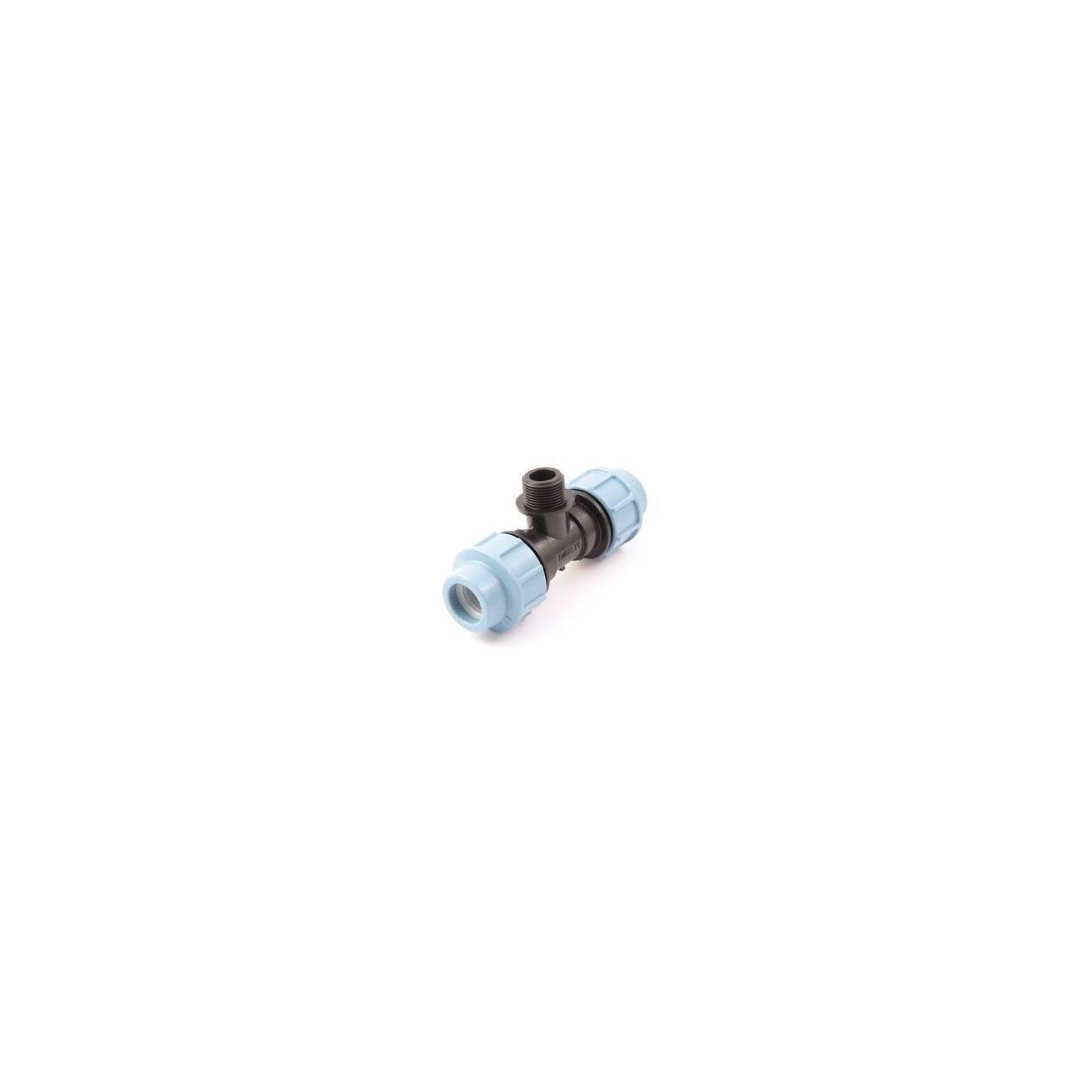 """PE-Rohr 90°-Winkel mit AG-Abzweigung 16 mm x 1//2/"""""""